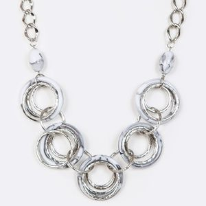Jewelry - Mix Rings Rendant Necklace with Matching Earring
